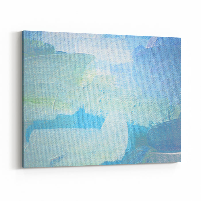 Abstract Painting On A Canvas Oil,  Illustration, Background Canvas Wall Art Print