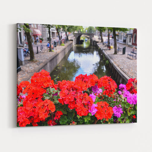 Photo Picture Of Classic Architecture European Building Village Canvas Wall Art Print