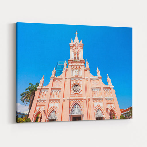 Da Nang Cathedral Is A Catholic Church In Danang City In Vietnam Canvas Wall Art Print