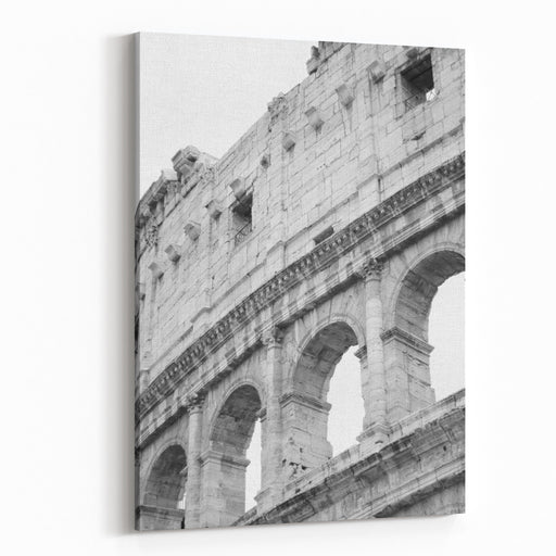 Colosseum View Roman Architecture Iconic Historical Landmarks Of Rome, Italy Travel Photography Travel To Rome Canvas Wall Art Print