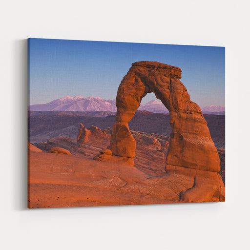 Utahs Delicate Arch At Dusk Canvas Wall Art Print