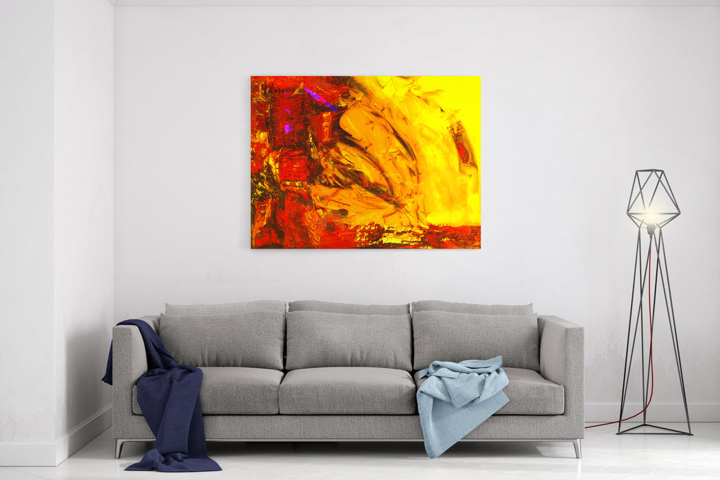 Beautiful Large Scale Abstract Painting On Canvas Canvas Wall Art Print