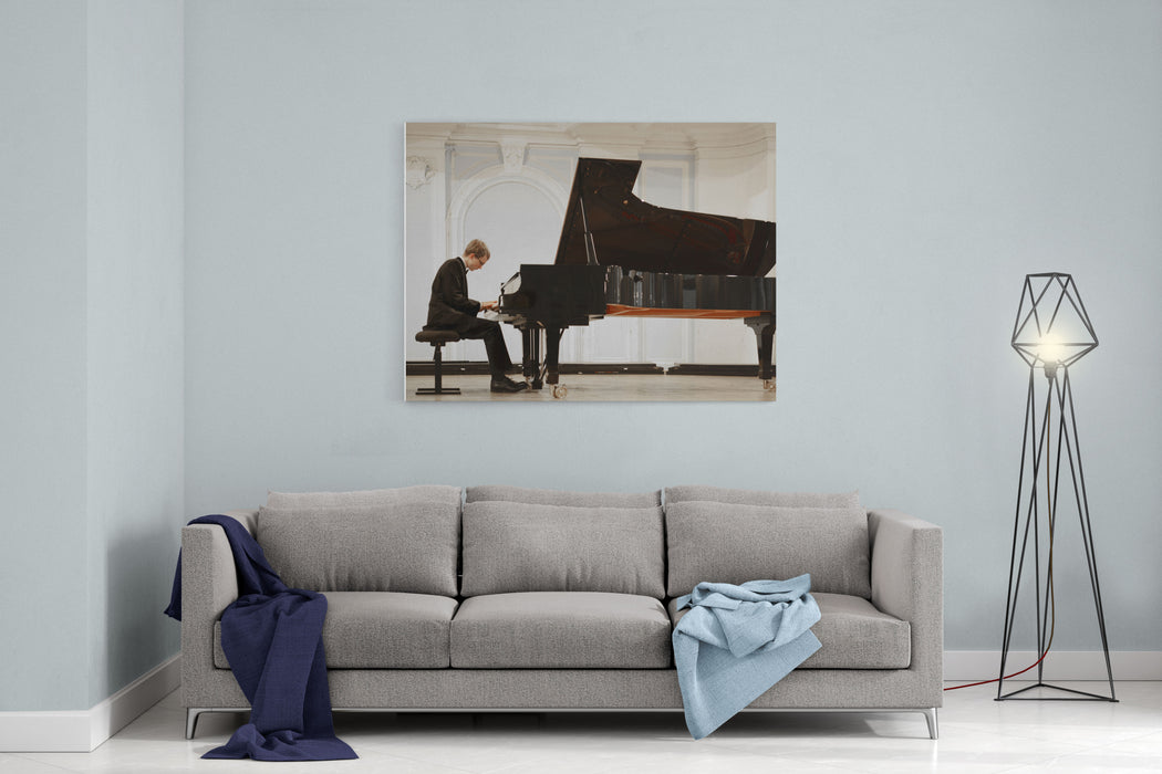Concert In The Rachmaninov Hall Of The Moscow Conservatory, Russia Canvas Wall Art Print
