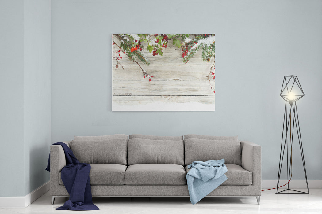 Winter Background Canvas Wall Art Print