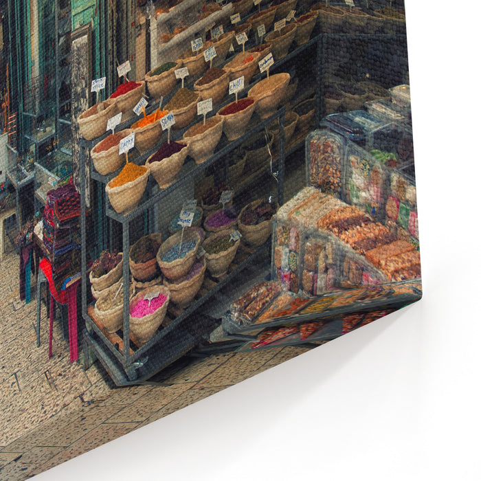 Market In Old City Of Jerusalem Canvas Wall Art Print