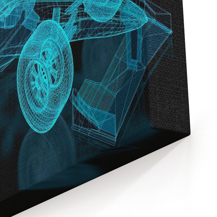 Formula One Mesh Part Of A Series Canvas Wall Art Print