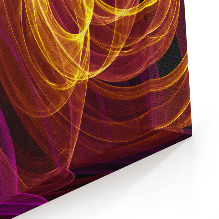 Abstract Background With Colorful Rings Canvas Wall Art Print