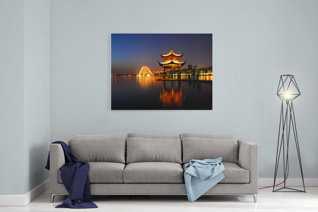 China Garden Canvas Wall Art Print
