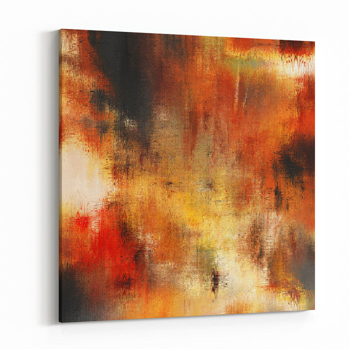 Art Abstract Grunge Sandy Textured Background In Beige, Gold Yellow, Orange, Red ,brown And Black Colors Canvas Wall Art Print