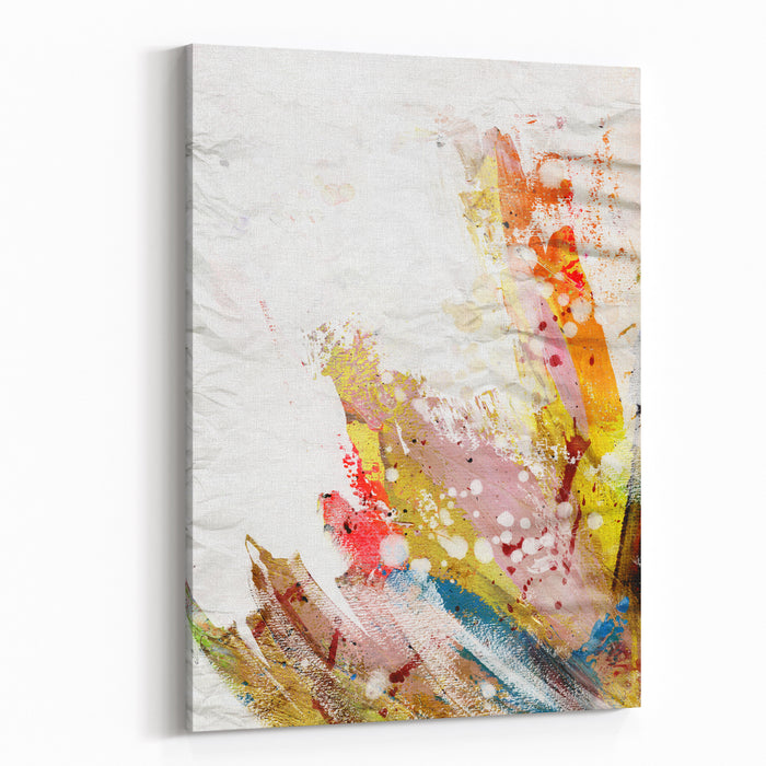 Abstract Painting Background With Expressive Brush Strokes Canvas Wall Art Print