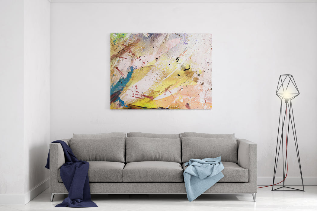 Abstract Painting With Expressive Brush Strokes Canvas Wall Art Print