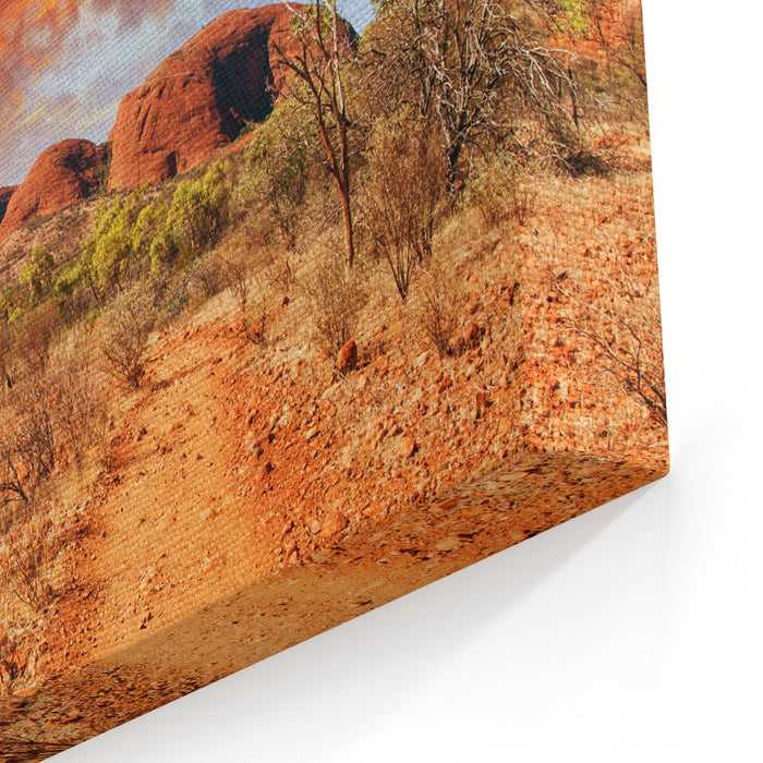 Beautiful Colors And Landscape Of Australian Outback Canvas Wall Art Print