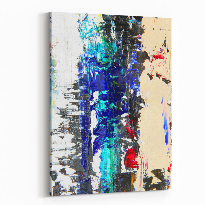 Abstract Painting On Canvas As Background Canvas Wall Art Print