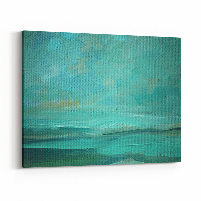 Sea Landscape Oil On A Canvas,  Illustration, Painting Canvas Wall Art Print