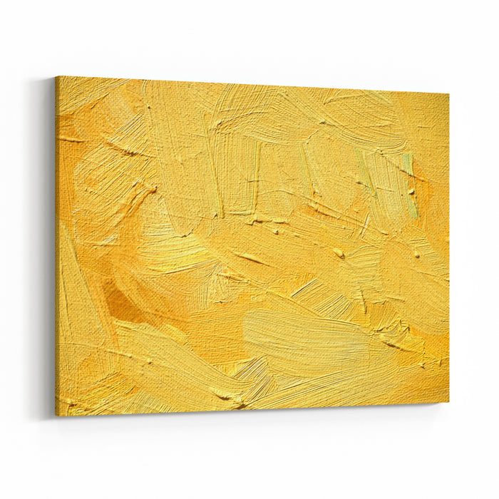 Abstract Painting For An Interior Of Yellow Shades,  Illustration,  Background Canvas Wall Art Print