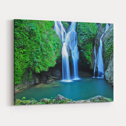 Vegas Grande Waterfall In Topes De Collante, Trinidad, Cuba Canvas Wall Art Print