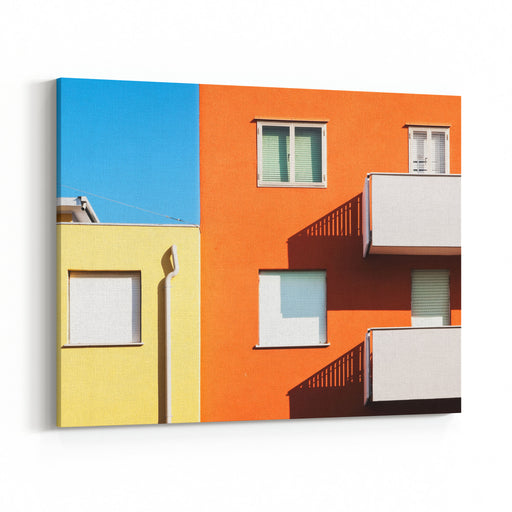 Modern Plattenbau In Italy Canvas Wall Art Print