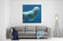 Closeup Of A Swimming Polar Bear Underwater Looking At The Camera Canvas Wall Art Print