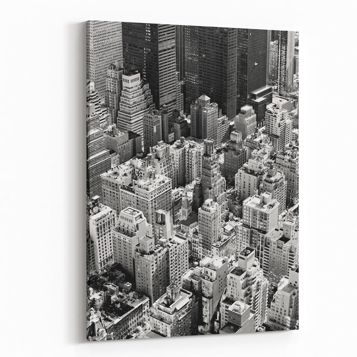 Aerial View Of Manhattan, New York City USA Canvas Wall Art Print