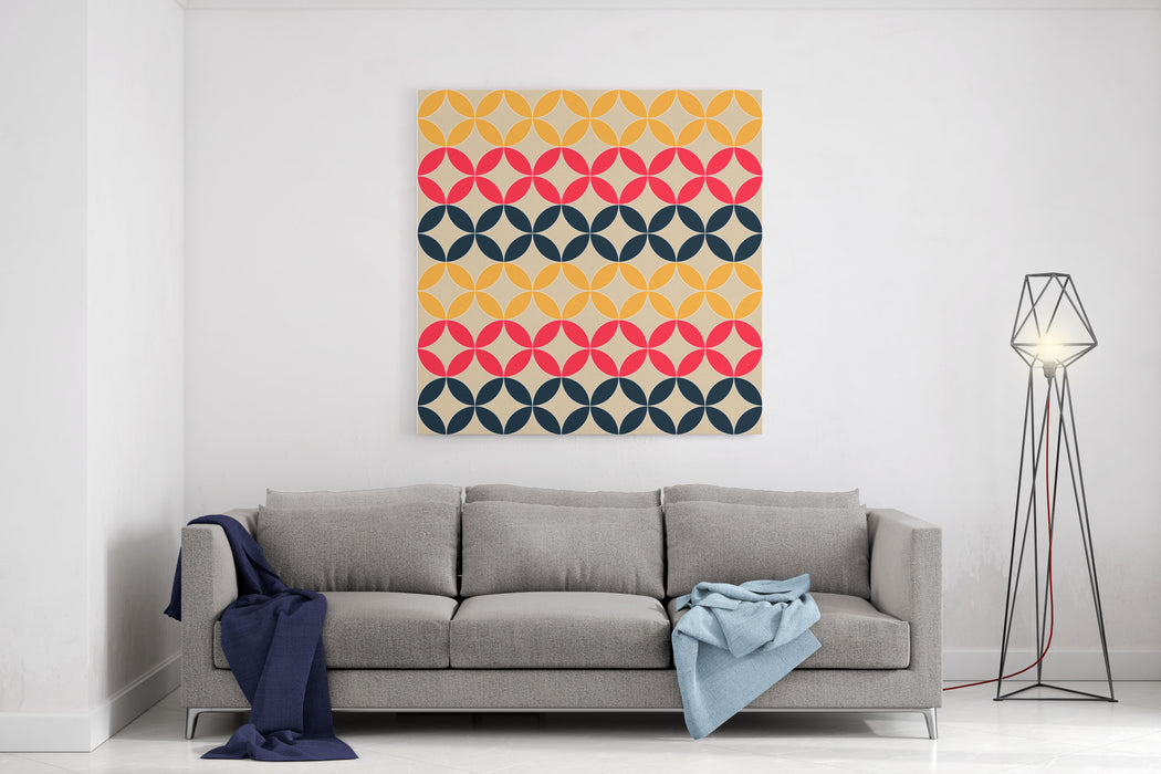 Abstract Geometric Artistic Pattern Background Canvas Wall Art Print