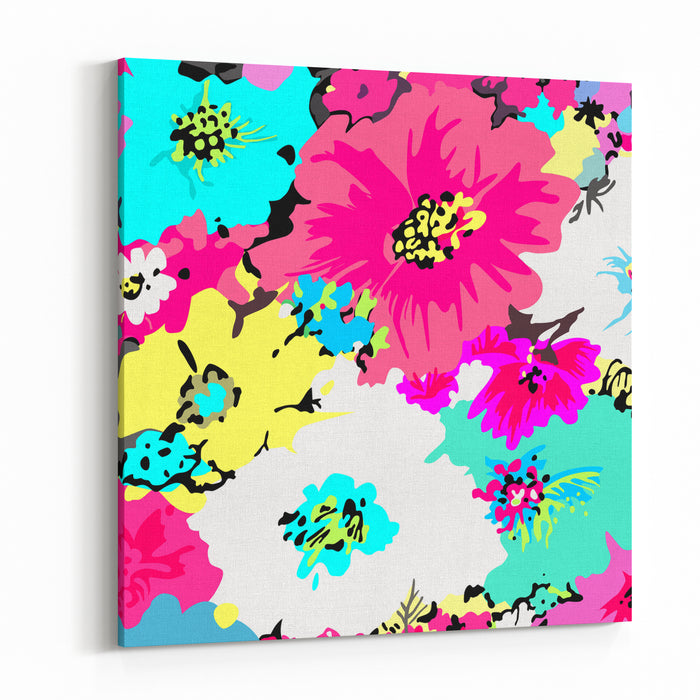Abstract Floral Background Canvas Wall Art Print