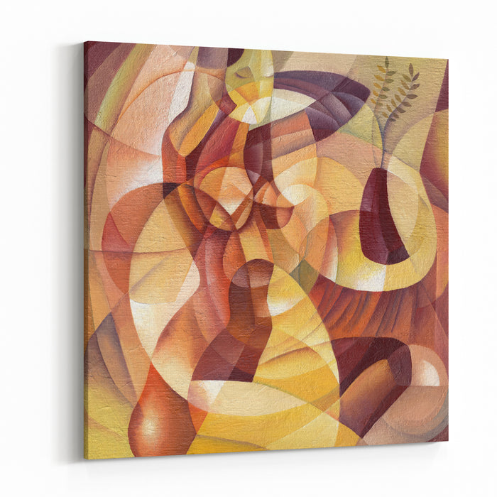 Cubist Portrait Illustration By Eugene Ivanov Canvas Wall Art Print