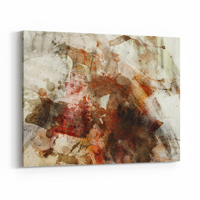 Designed Grunge Paper Texture  Artistic Painting Background Canvas Wall Art Print