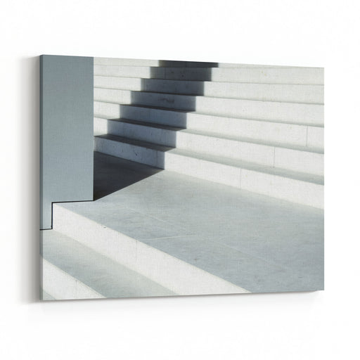 Steps At An Old Staircase Canvas Wall Art Print
