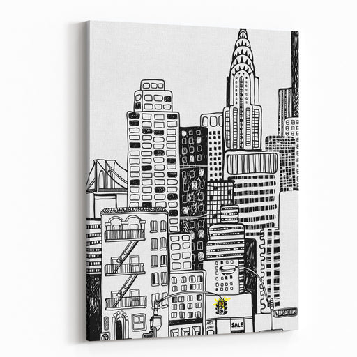 New York Canvas Wall Art Print