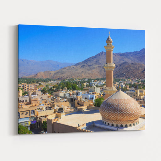 Beautiful Panorama Of Nizwa, Oman Canvas Wall Art Print
