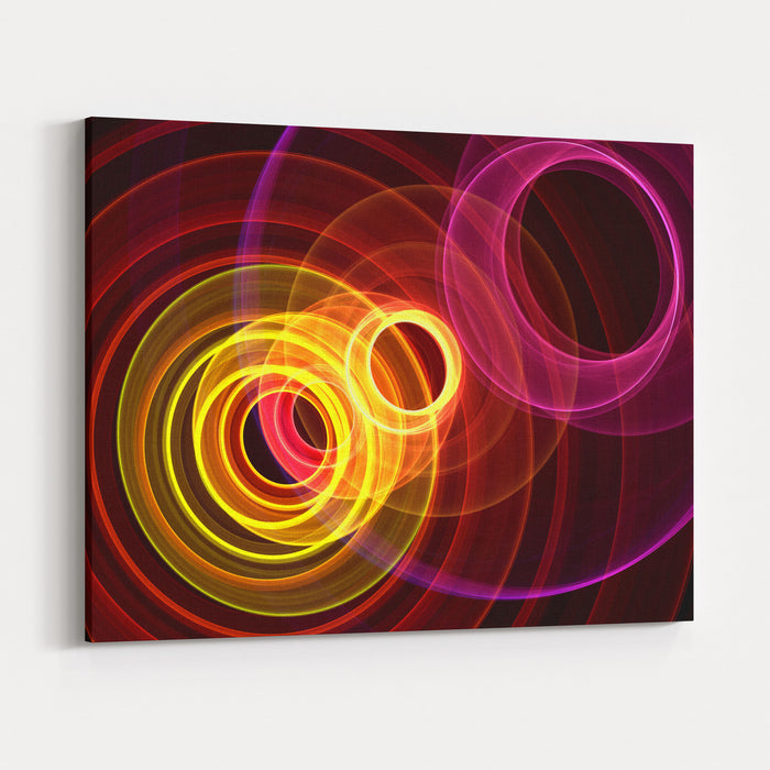 Colorful Abstract Background Canvas Wall Art Print