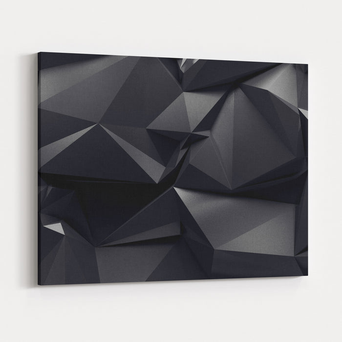 Abstract Graphite Crystal Background Canvas Wall Art Print