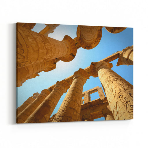 Egypts Mystery , Luxor, Karnak Temple Canvas Wall Art Print