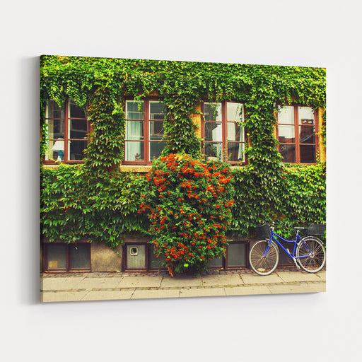 The Bicycle In Copenhagen Canvas Wall Art Print