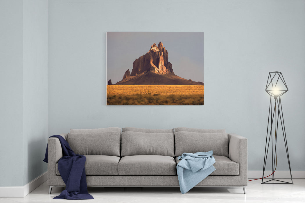 Painting Like Picture Of Shiprock In New Mexico Canvas Wall Art Print