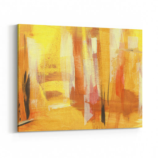 Textured Handmade Ocheryellowwhite Abstraction On Canvas For Business Canvas Wall Art Print