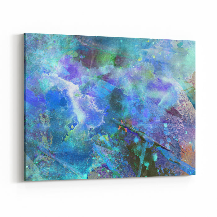 Abstract Paint Background On Grunge Texture Canvas Wall Art Print