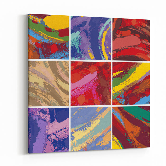 Vector Illustration Set Of Abstract Painting Background Design Canvas Wall Art Print