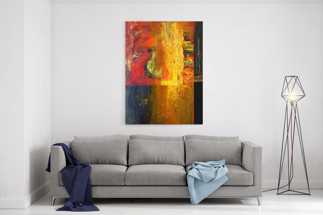 Beautiful Image Of A Original Abstract Oil On Canvas Canvas Wall Art Print