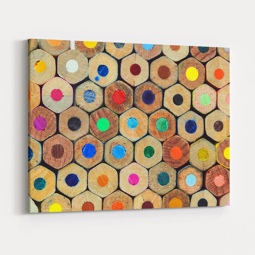Colored Crayons Back Texture Canvas Wall Art Print