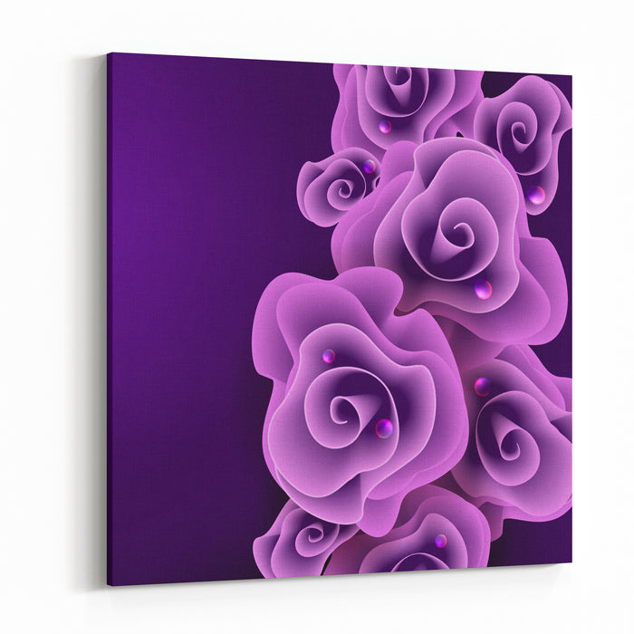 Rose Canvas Wall Art Print