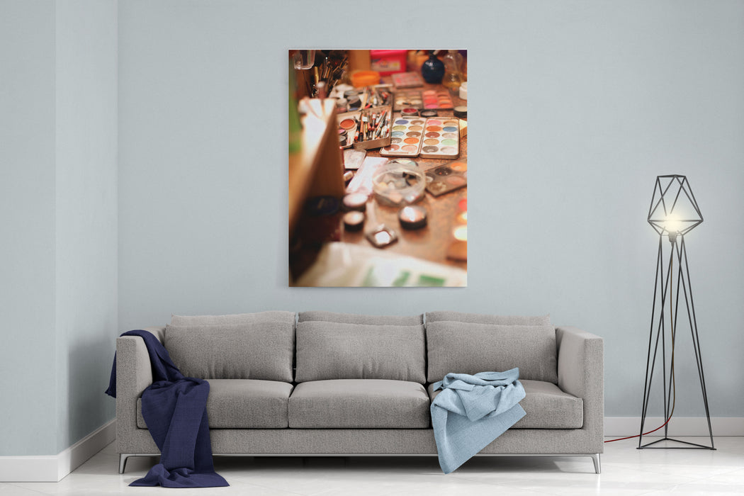 Behind The Scenes, Makeup Canvas Wall Art Print