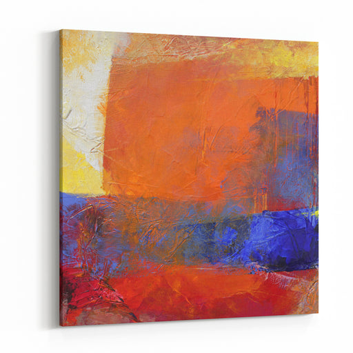 Layers With Oil Paints  Abstract Painting Canvas Wall Art Print