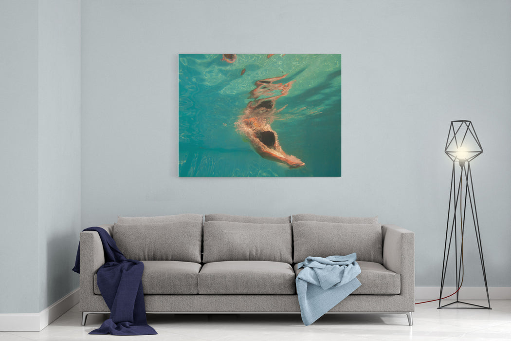 Girl Diving In The Swimming Pool Canvas Wall Art Print