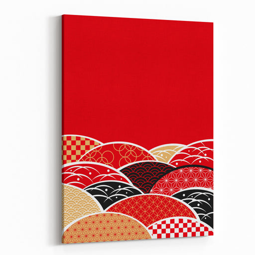 A Japanese Style Background Of Japan Canvas Wall Art Print