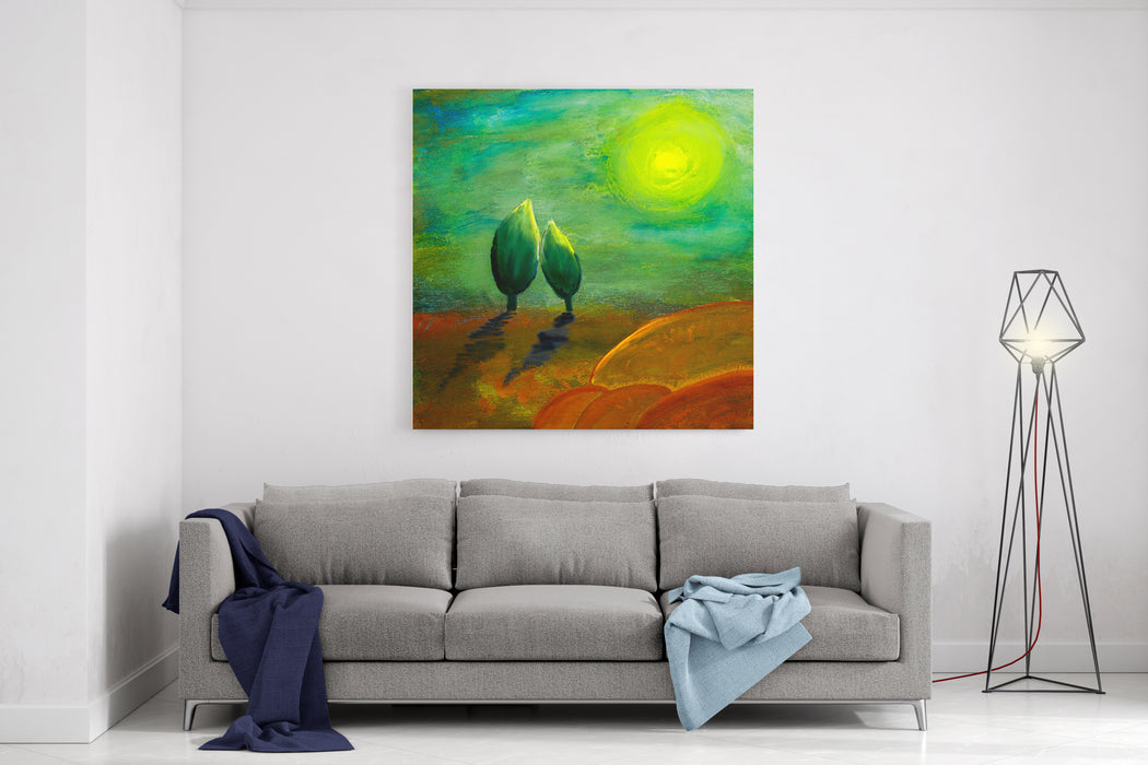 Painting For Love And Hope Concept Canvas Wall Art Print