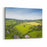 Dramatic Aerial View Of Idyllic Rolling Patchwork Farmland With Pretty Wooded Boundaries, Lit In Warm Early Evening Sunshine In The Heart Of The Cotswolds, England, UK Canvas Wall Art Print