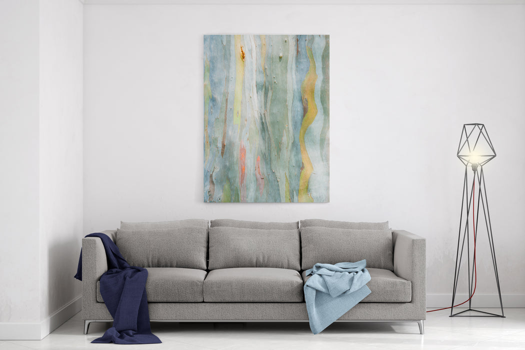 Abstract Painting By Eucalyptus Tree Bark Canvas Wall Art Print