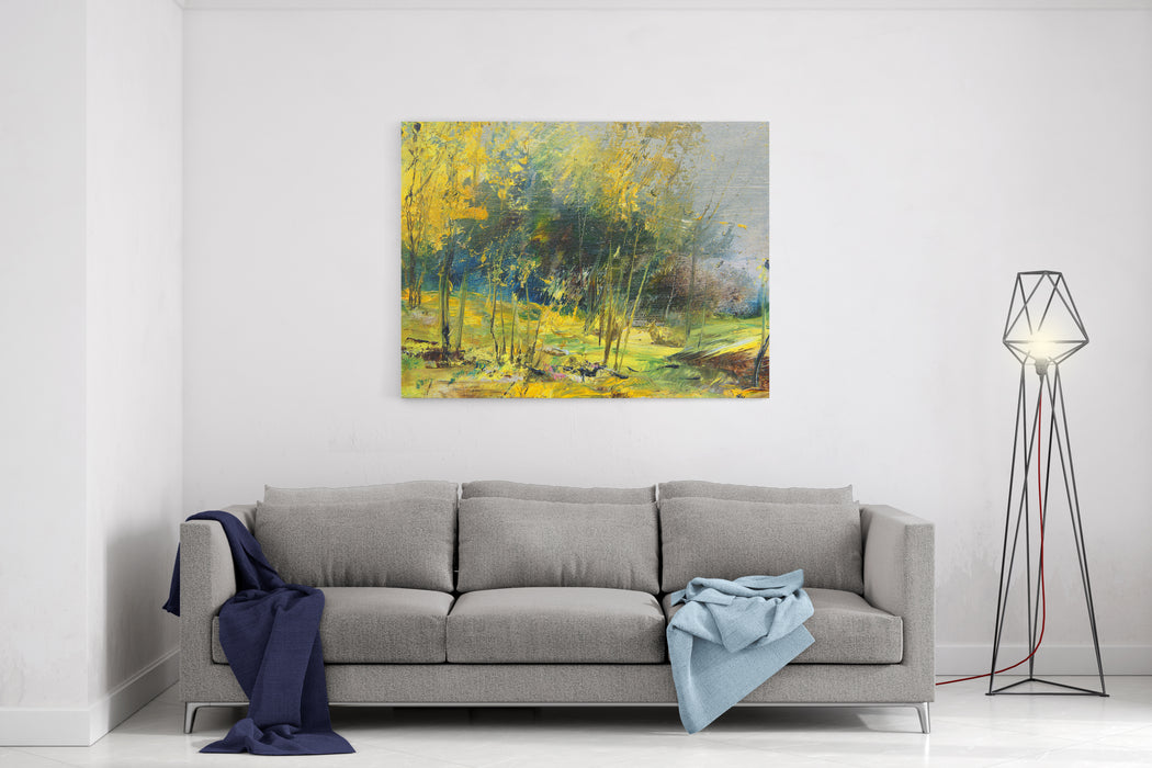 Trees, Oil Painting, Artistic Background Canvas Wall Art Print