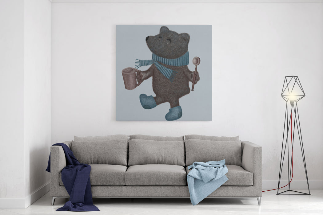 Image Of A Bear Canvas Wall Art Print